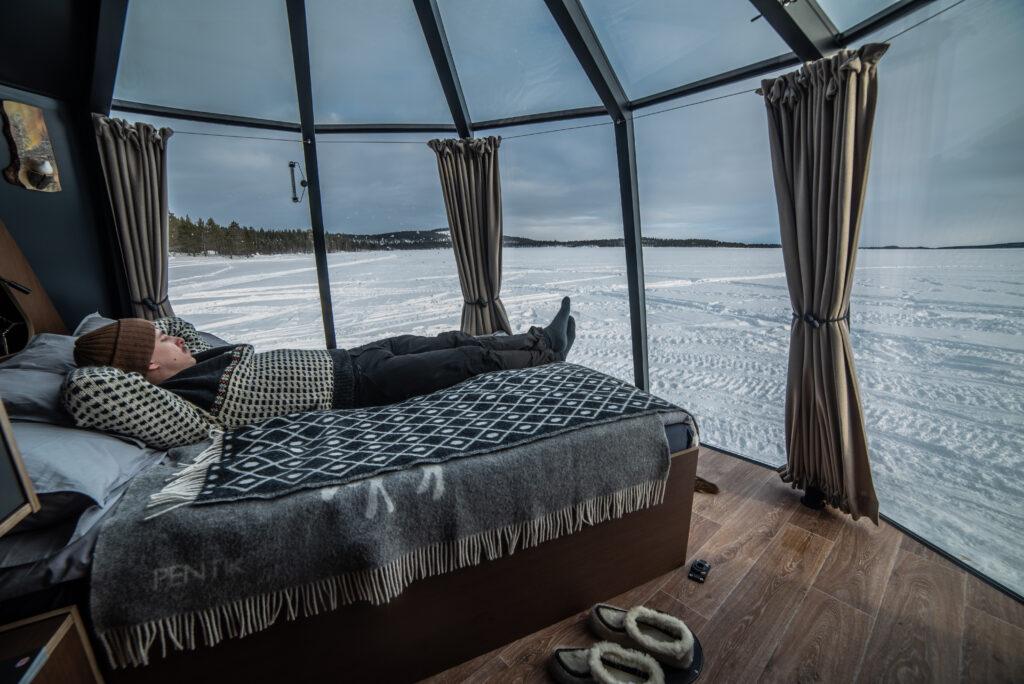 Wilderness Hotel Nangu aurora hut Inari